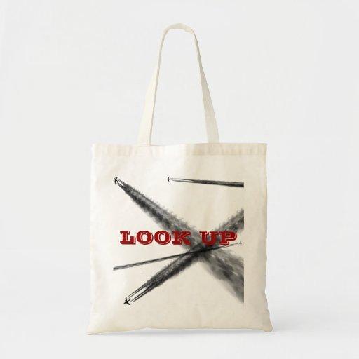 Mire para arriba bolsa tela barata