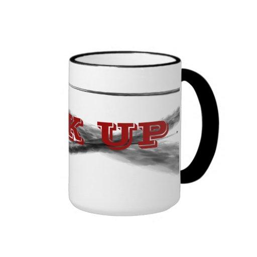 Mire para arriba taza de café
