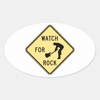 MIRE PARA el rock-and-roll/la música/el indie/el Calcomanía Ovaladas Personalizadas