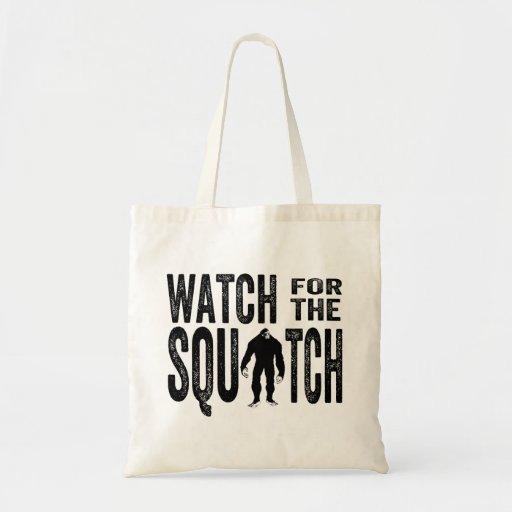 Mire para el Squatch - Bigfoot divertido Bolsa Tela Barata