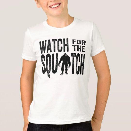 Mire para el Squatch - Bigfoot divertido Playera