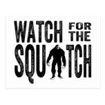 Mire para el Squatch - Bigfoot divertido Tarjeta Postal