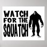 ¡Mire para el SQUATCH! Poster
