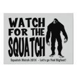 Mire para la invitación de la caza de Squatch Invitación 13,9 X 19,0 Cm