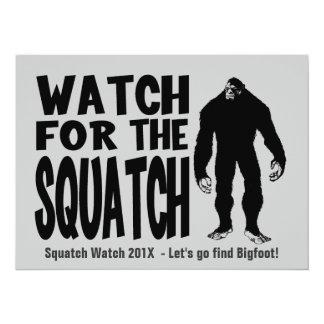 Mire para la invitación de la caza de Squatch