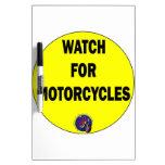 Mire para las motocicletas BLING Tablero Blanco