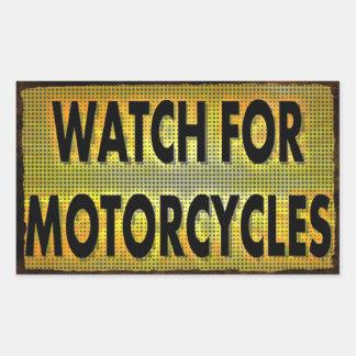 Mire para los pegatinas de las motocicletas rectangular pegatina