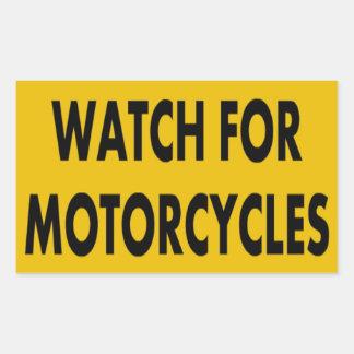 Mire para los pegatinas de las motocicletas rectangular pegatinas