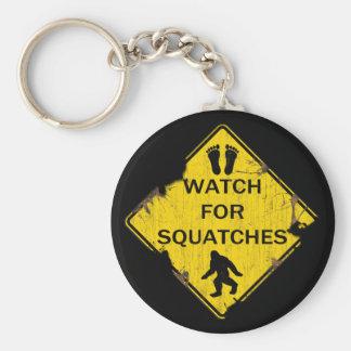 Mire para Squatches Llavero Redondo Tipo Pin