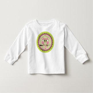 Mire quién camiseta del cumpleaños del búho playeras