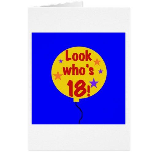 Mire quién es 18 tarjeta de felicitación