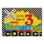 Mire quién es 3 tarjetas del tren del cumpleaños