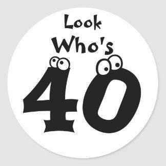 Mire quién es 40 etiquetas redondas