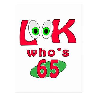¿Mire quién es 65? Postal