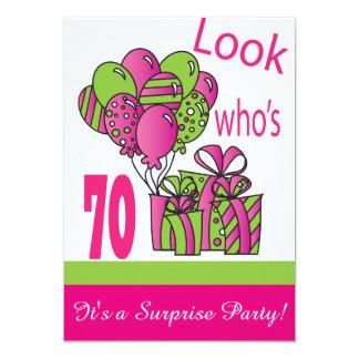 """Mire quién es 70.o cumpleaños del 70% el pipe% invitación 5"""" x 7"""""""