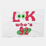 ¿Mire quién es 92? Toalla De Mano