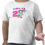 Mire quién es cumpleaños de 2 chicas camisetas