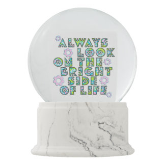 Mire siempre en la parte positiva de la vida bola de nieve