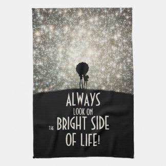 ¡Mire siempre en la parte positiva de la vida! Toalla De Mano