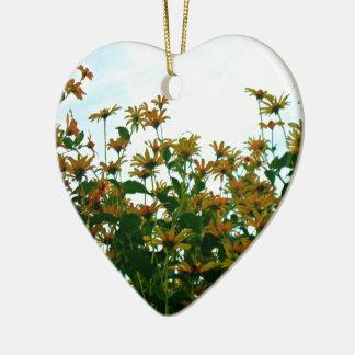 Mire siempre para arriba adorno de cerámica en forma de corazón