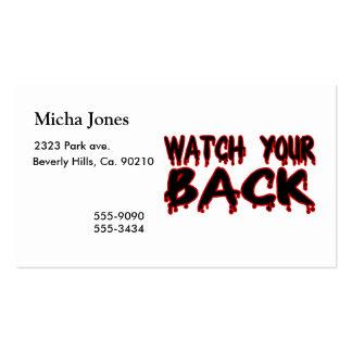 Mire su parte posterior tarjetas de visita