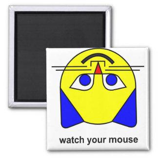 mire su ratón imán cuadrado