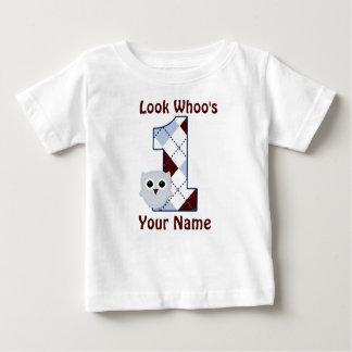 Mire Whoo 1 camiseta del cumpleaños de los Playera