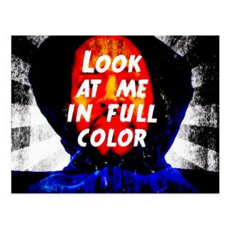 Míreme en a todo color postal