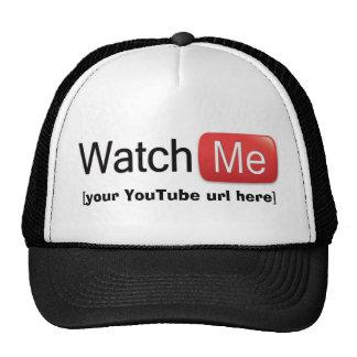 Míreme en YouTube (básico) Gorras