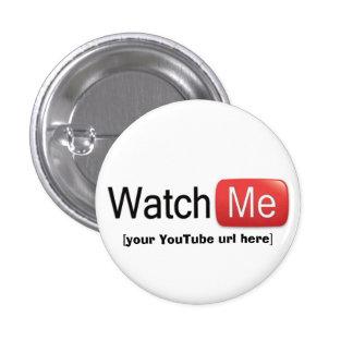 Míreme en YouTube (básico) Pin Redondo De 1 Pulgada