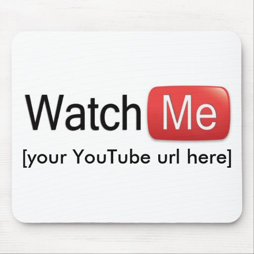 Míreme en YouTube (básico) Tapetes De Raton