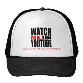 Míreme en YouTube (moderno) Gorro De Camionero
