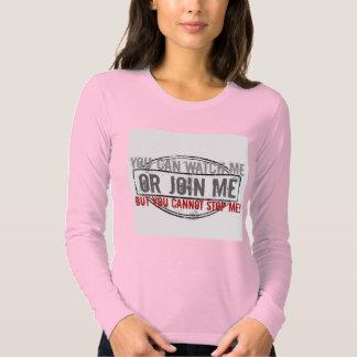 Míreme o únase a me camisa para mujer del plexo
