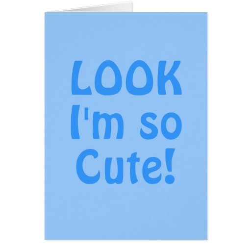 Míreme son tan lindo. Azul. Lema Tarjeta