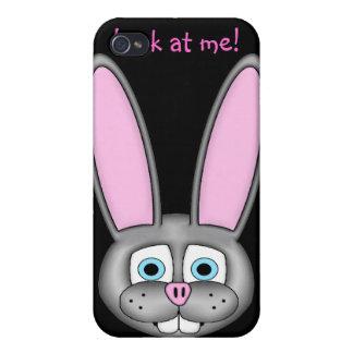 ¡Míreme! ¡Soy un bunneh! iPhone 4 Carcasas