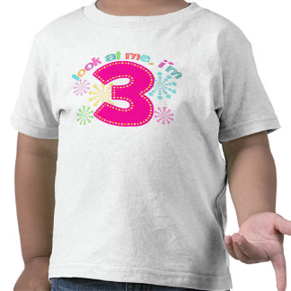 Míreme, yo son 3 - rosa camisetas