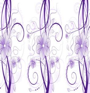 Miriam Purple Shower Curtain