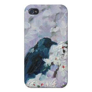 """""""Mirlo en floraciones"""" para el hardcase del iPhone iPhone 4/4S Fundas"""