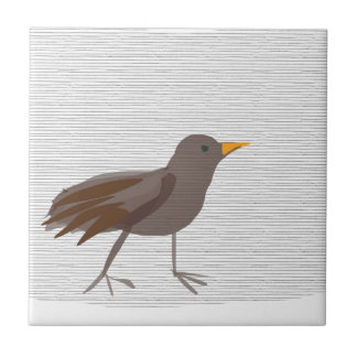 Mirlo SIRAdesign del pájaro de Amsel Azulejo Cuadrado Pequeño