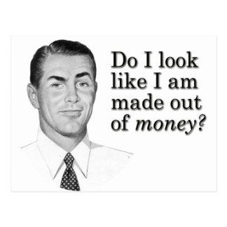¿Miro como me hacen fuera del dinero? Postal