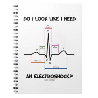 ¿Miro como necesito un Electroshock? EKG ECG Libro De Apuntes Con Espiral