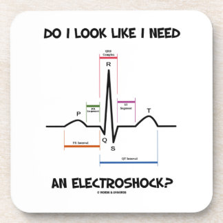 ¿Miro como necesito un Electroshock? EKG ECG Posavasos De Bebida