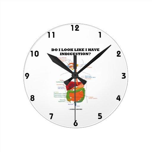 ¿Miro como tengo indigestión? (Humor médico) Relojes De Pared