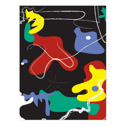Miro-Inspired Vertical Postcard