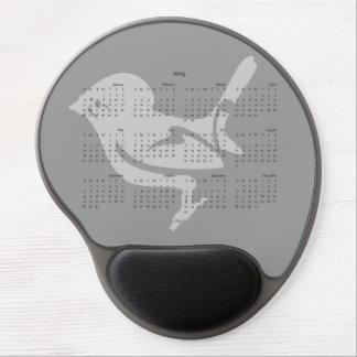 Miromiro Tomtit 2014 calendar mousepad Gel Mousepad