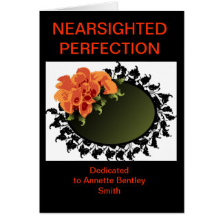 mirror2, NEARSIGHTED PERFECTION, Dedicated to A... Card