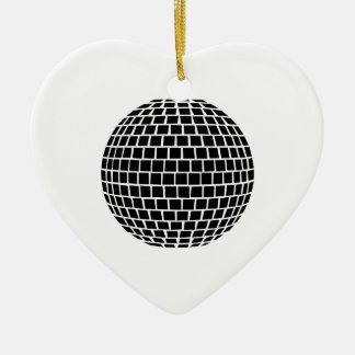 Mirror ball ceramic ornament