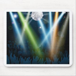 Mirror ball dance floor crowd mousemat