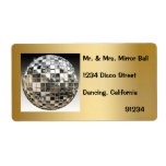 Mirror Ball Disco Party Labels