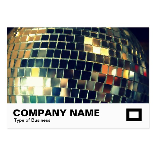Mirror Ball Large Business Card